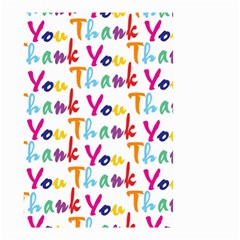 Wallpaper With The Words Thank You In Colorful Letters Small Garden Flag (Two Sides)