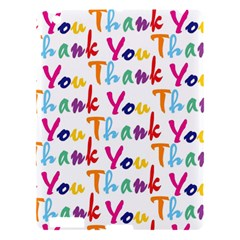 Wallpaper With The Words Thank You In Colorful Letters Apple Ipad 3/4 Hardshell Case