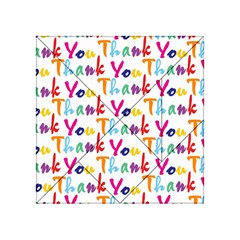 Wallpaper With The Words Thank You In Colorful Letters Acrylic Tangram Puzzle (4  x 4 )