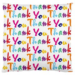 Wallpaper With The Words Thank You In Colorful Letters Large Cushion Case (Two Sides)