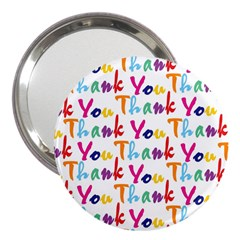 Wallpaper With The Words Thank You In Colorful Letters 3  Handbag Mirrors