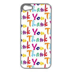 Wallpaper With The Words Thank You In Colorful Letters Apple iPhone 5 Case (Silver)