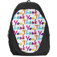 Wallpaper With The Words Thank You In Colorful Letters Backpack Bag
