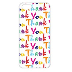 Wallpaper With The Words Thank You In Colorful Letters Apple iPhone 5 Seamless Case (White)