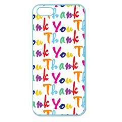 Wallpaper With The Words Thank You In Colorful Letters Apple Seamless Iphone 5 Case (color)