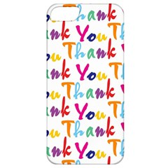 Wallpaper With The Words Thank You In Colorful Letters Apple iPhone 5 Classic Hardshell Case