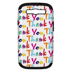 Wallpaper With The Words Thank You In Colorful Letters Samsung Galaxy S III Hardshell Case (PC+Silicone)