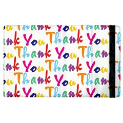 Wallpaper With The Words Thank You In Colorful Letters Apple iPad 2 Flip Case