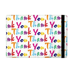 Wallpaper With The Words Thank You In Colorful Letters Apple Ipad Mini Flip Case