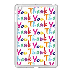 Wallpaper With The Words Thank You In Colorful Letters Apple iPad Mini Case (White)