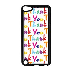 Wallpaper With The Words Thank You In Colorful Letters Apple Ipod Touch 5 Case (black)