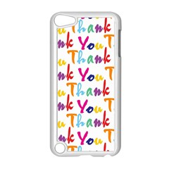 Wallpaper With The Words Thank You In Colorful Letters Apple iPod Touch 5 Case (White)
