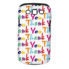 Wallpaper With The Words Thank You In Colorful Letters Samsung Galaxy S III Classic Hardshell Case (PC+Silicone)