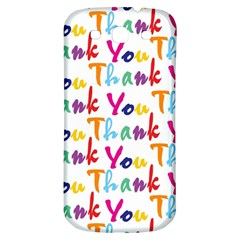 Wallpaper With The Words Thank You In Colorful Letters Samsung Galaxy S3 S III Classic Hardshell Back Case