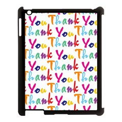 Wallpaper With The Words Thank You In Colorful Letters Apple Ipad 3/4 Case (black)