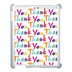 Wallpaper With The Words Thank You In Colorful Letters Apple Ipad 3/4 Case (white)