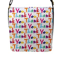 Wallpaper With The Words Thank You In Colorful Letters Flap Messenger Bag (L)