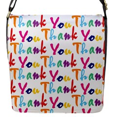 Wallpaper With The Words Thank You In Colorful Letters Flap Messenger Bag (S)