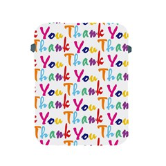Wallpaper With The Words Thank You In Colorful Letters Apple iPad 2/3/4 Protective Soft Cases