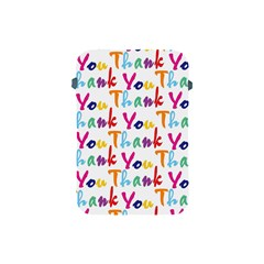 Wallpaper With The Words Thank You In Colorful Letters Apple iPad Mini Protective Soft Cases
