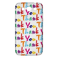 Wallpaper With The Words Thank You In Colorful Letters Samsung Galaxy Mega 5.8 I9152 Hardshell Case