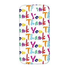 Wallpaper With The Words Thank You In Colorful Letters Samsung Galaxy S4 I9500/I9505  Hardshell Back Case