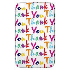 Wallpaper With The Words Thank You In Colorful Letters Samsung Galaxy Tab 3 (8 ) T3100 Hardshell Case