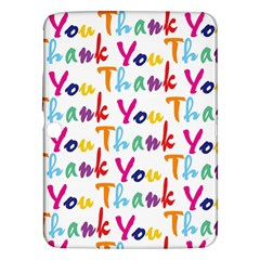 Wallpaper With The Words Thank You In Colorful Letters Samsung Galaxy Tab 3 (10.1 ) P5200 Hardshell Case