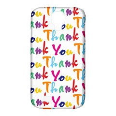 Wallpaper With The Words Thank You In Colorful Letters Samsung Galaxy S4 Classic Hardshell Case (PC+Silicone)