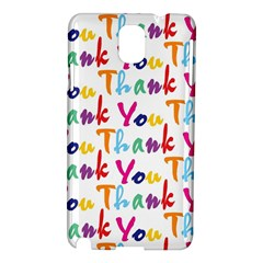 Wallpaper With The Words Thank You In Colorful Letters Samsung Galaxy Note 3 N9005 Hardshell Case