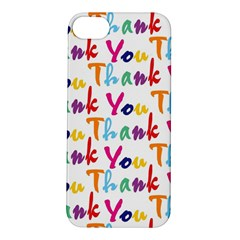 Wallpaper With The Words Thank You In Colorful Letters Apple iPhone 5S/ SE Hardshell Case