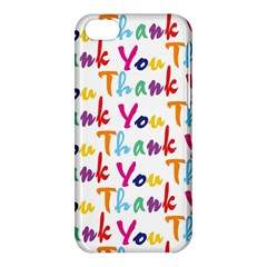 Wallpaper With The Words Thank You In Colorful Letters Apple iPhone 5C Hardshell Case