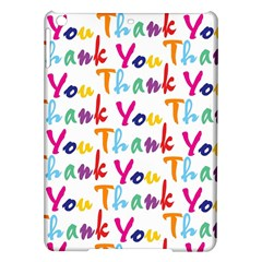 Wallpaper With The Words Thank You In Colorful Letters iPad Air Hardshell Cases