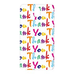 Wallpaper With The Words Thank You In Colorful Letters Samsung Galaxy Note 3 N9005 Hardshell Back Case