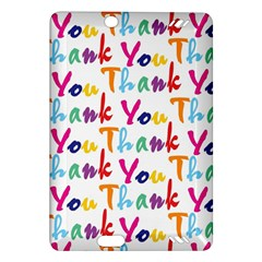 Wallpaper With The Words Thank You In Colorful Letters Amazon Kindle Fire HD (2013) Hardshell Case
