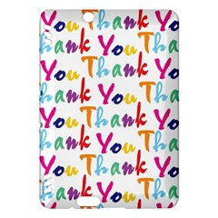 Wallpaper With The Words Thank You In Colorful Letters Kindle Fire HDX Hardshell Case
