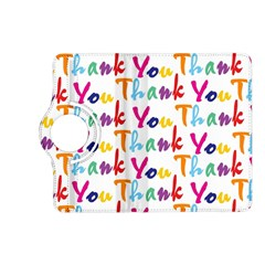 Wallpaper With The Words Thank You In Colorful Letters Kindle Fire Hd (2013) Flip 360 Case