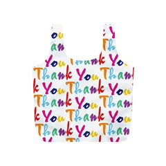 Wallpaper With The Words Thank You In Colorful Letters Full Print Recycle Bags (S)