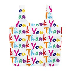 Wallpaper With The Words Thank You In Colorful Letters Full Print Recycle Bags (L)