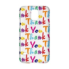 Wallpaper With The Words Thank You In Colorful Letters Samsung Galaxy S5 Hardshell Case