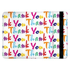 Wallpaper With The Words Thank You In Colorful Letters Samsung Galaxy Tab Pro 12 2  Flip Case