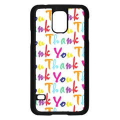 Wallpaper With The Words Thank You In Colorful Letters Samsung Galaxy S5 Case (Black)
