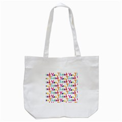 Wallpaper With The Words Thank You In Colorful Letters Tote Bag (White)