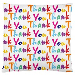 Wallpaper With The Words Thank You In Colorful Letters Large Flano Cushion Case (Two Sides)