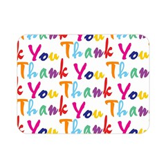 Wallpaper With The Words Thank You In Colorful Letters Double Sided Flano Blanket (Mini)
