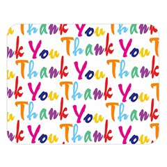 Wallpaper With The Words Thank You In Colorful Letters Double Sided Flano Blanket (large)