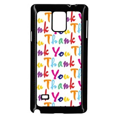 Wallpaper With The Words Thank You In Colorful Letters Samsung Galaxy Note 4 Case (Black)