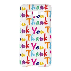 Wallpaper With The Words Thank You In Colorful Letters Samsung Galaxy A5 Hardshell Case