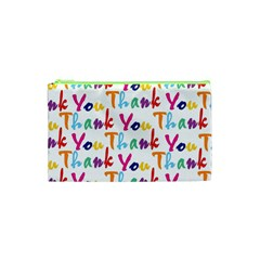 Wallpaper With The Words Thank You In Colorful Letters Cosmetic Bag (xs)