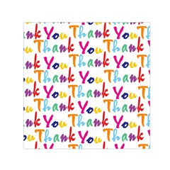 Wallpaper With The Words Thank You In Colorful Letters Small Satin Scarf (Square)